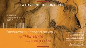 Annonce presse pour la caverne du Pont d'Arc - grotte Chauvet