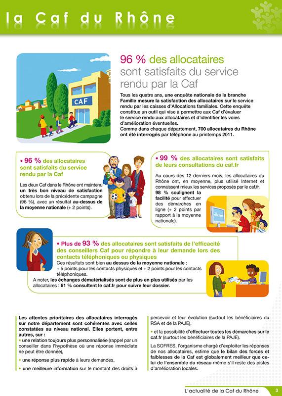 Création graphique de Magazine - Caf du Rhône - Lyon