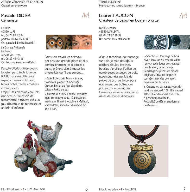 Création graphique de Brochure culturelle, à Lyon, pour le Parc naturel du Pilat