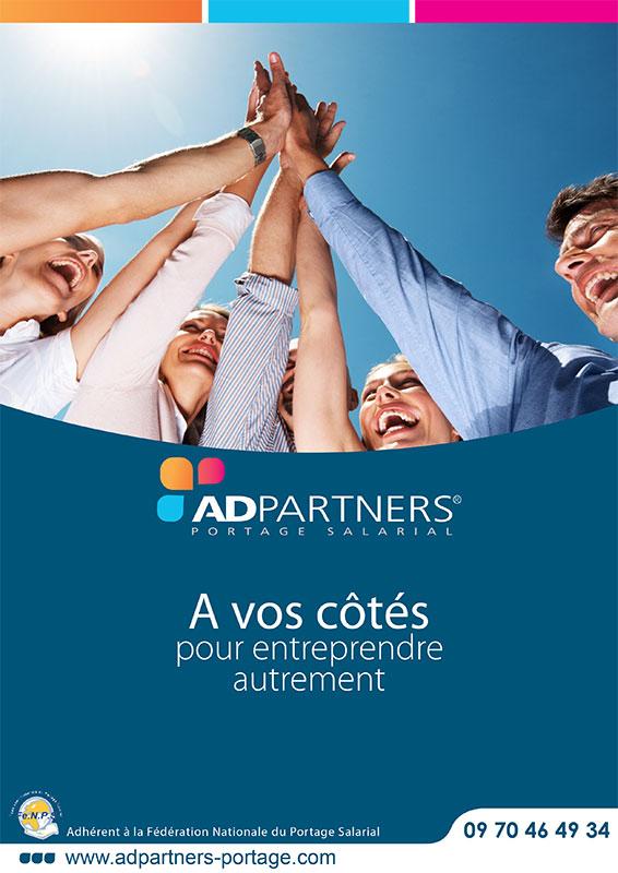 Création graphique de plaquette entreprise - ADPARTNERS
