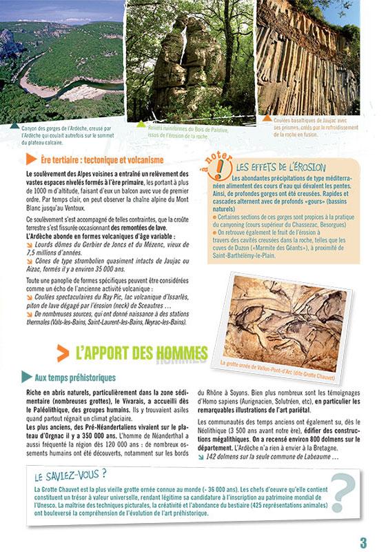 Création graphique de Brochure pour le Tourisme, patrimoine ardéchois