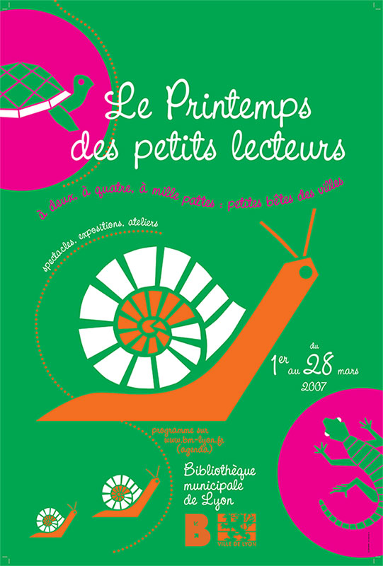 Graphisme culturel - Graphisme d'affiche pour les Bibliothèques de Lyon.