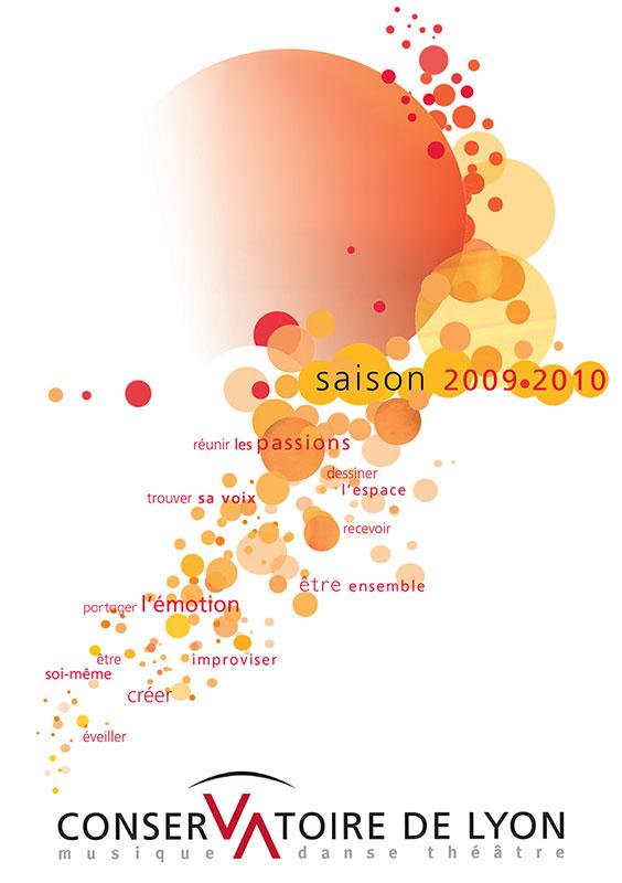 Graphisme culturel - Création graphique de Plaquette culturelle à Lyon, graphisme, Conservatoire de Lyon