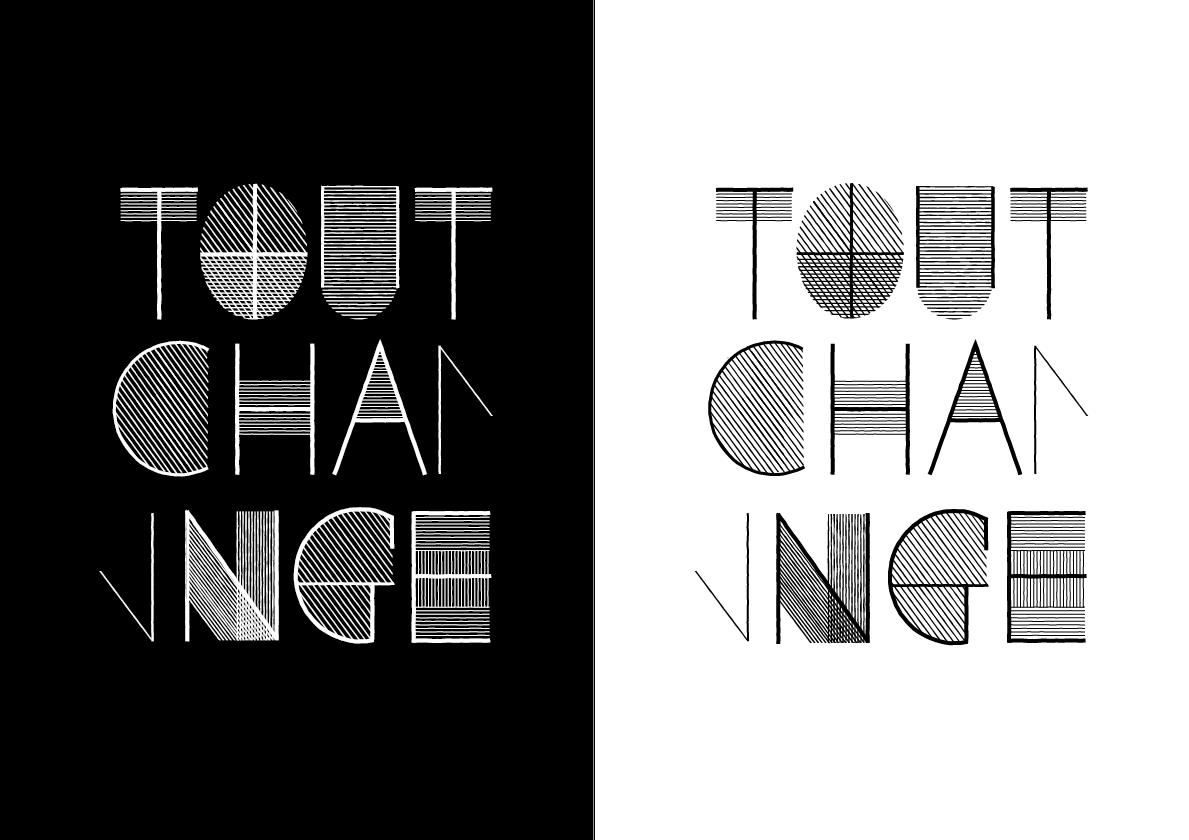 dessin de typographie