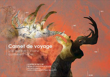 Création graphique de plaquette pour la caverne du Pont d'Arc