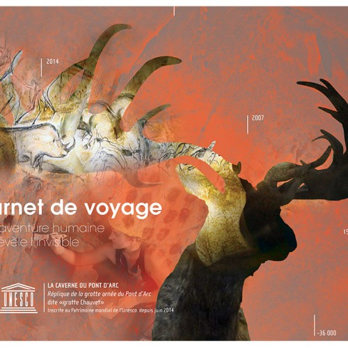 Caverne du Pont d'Arc, Création graphique de la brochure prestige !