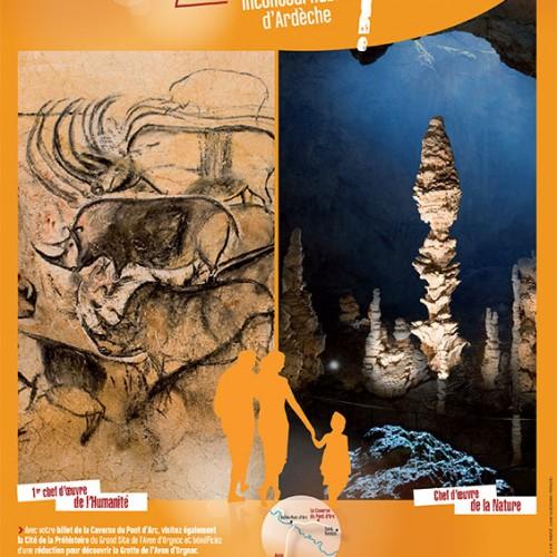 Affiche pour la Caverne du Pont d'Arc – Grotte Chauvet