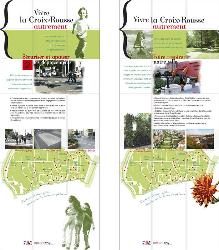 Création graphique et impression de Panneaux et roll-up - voirie - Lyon 4