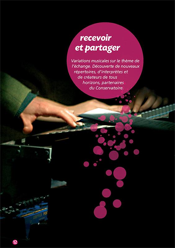 graphisme - plaquette Culturelle pour le Conservatoire de Lyon