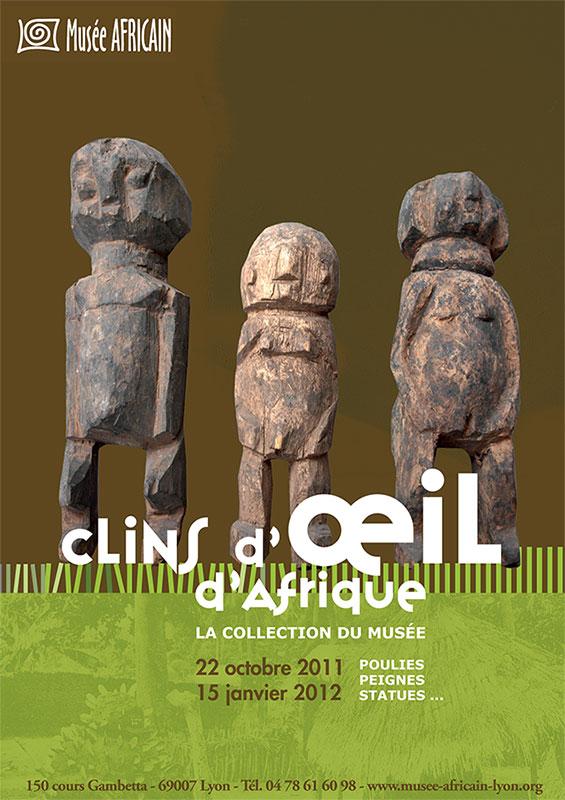 Graphisme culturel - Création graphique d'affiche pour le Musée africain, Lyon
