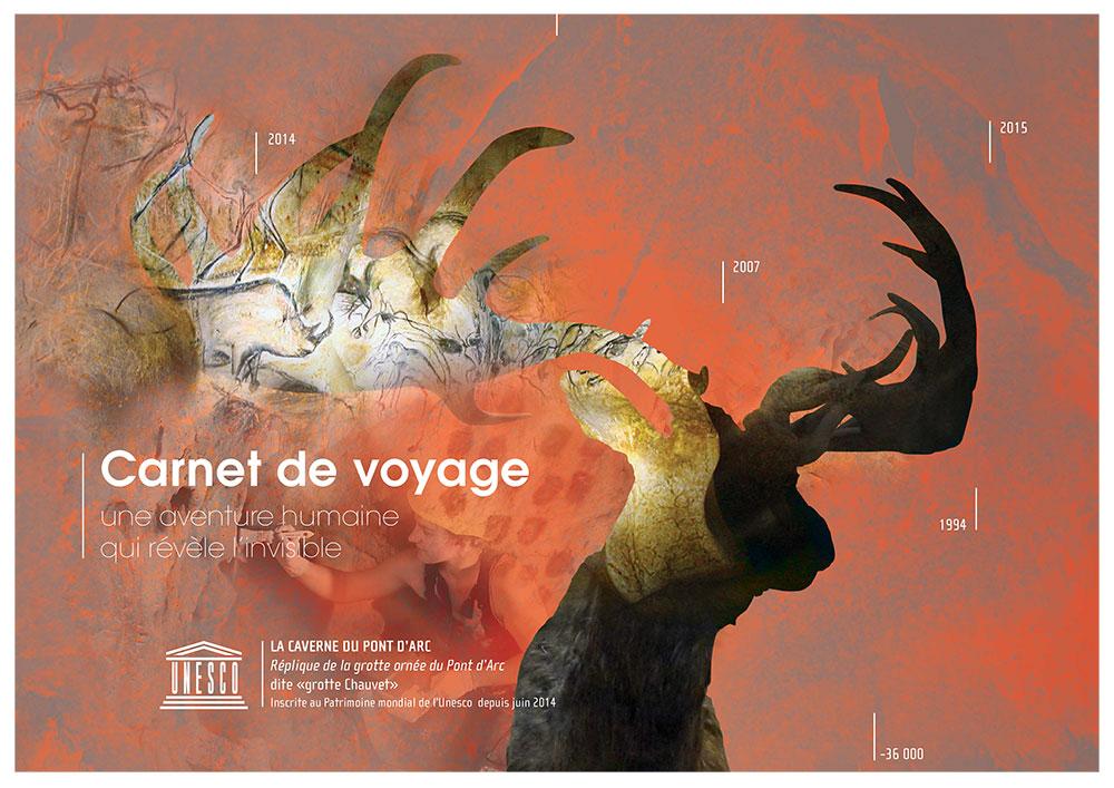 Création graphique de plaquette culturelle pour la caverne du Pont d'Arc