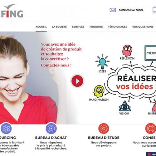 Création du site internet pour Briefing