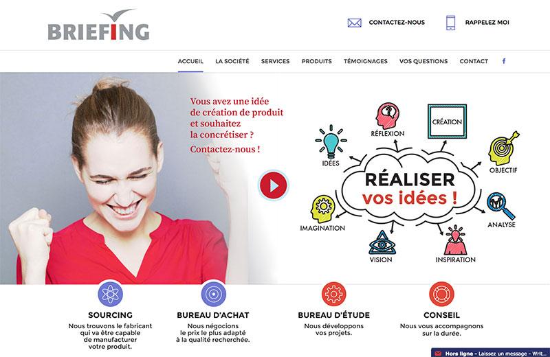 Création de site internet pour briefing