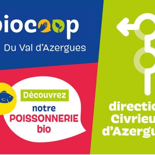 Signalétique 4X3 pour la biocoop
